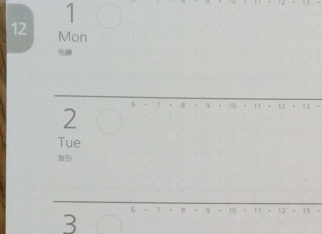 週間スケジュールのアップ画像その3