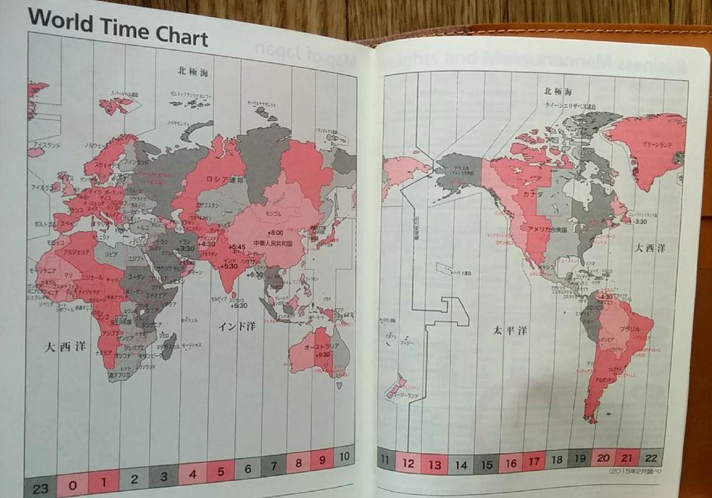 世界時間チャート