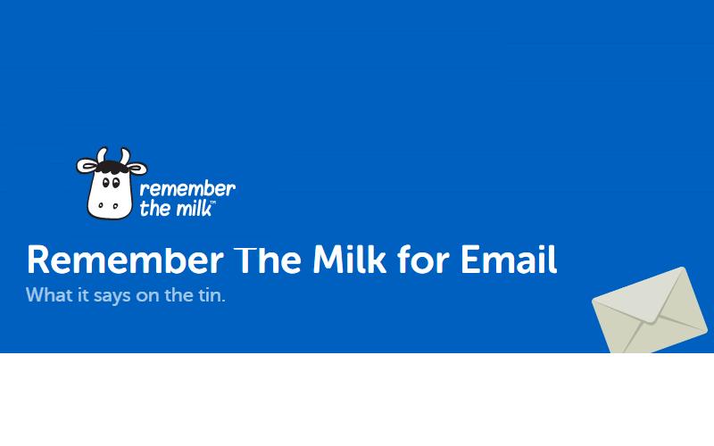 タスク管理ツール『Remember The Milk』でメールからタスクを追加する方法