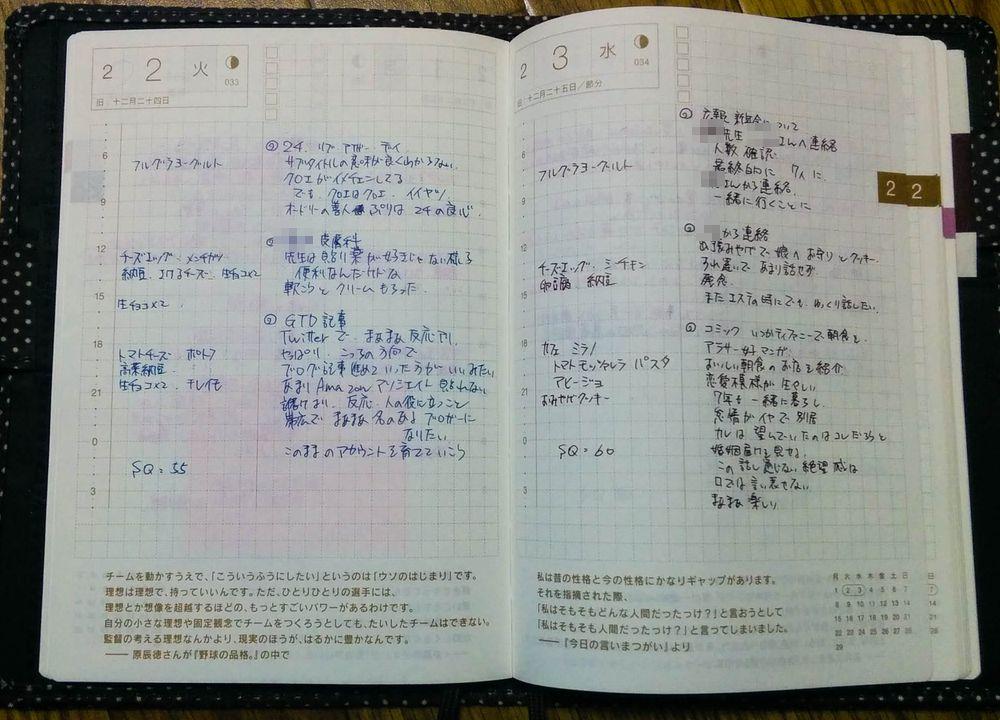 ほぼ日手帳avec デイリーページ