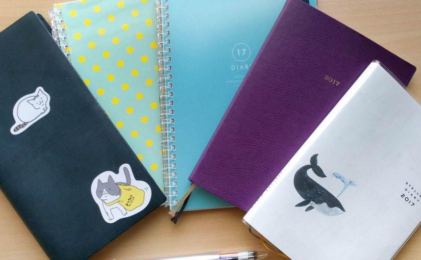 201年4月の手帳の手帳の使い方と5月の予定