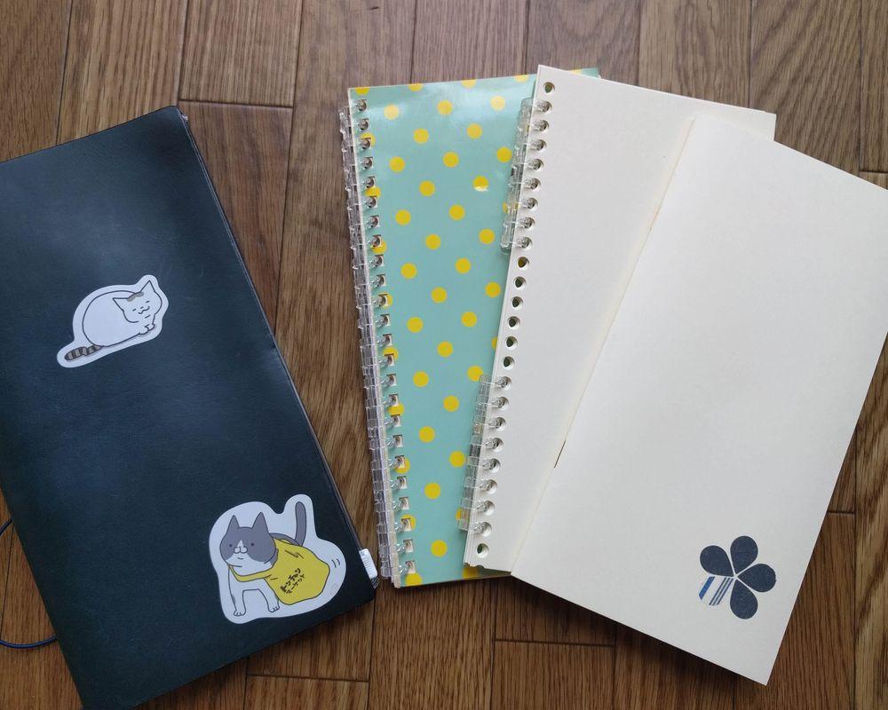 A4スリムサイズにされたノートたち