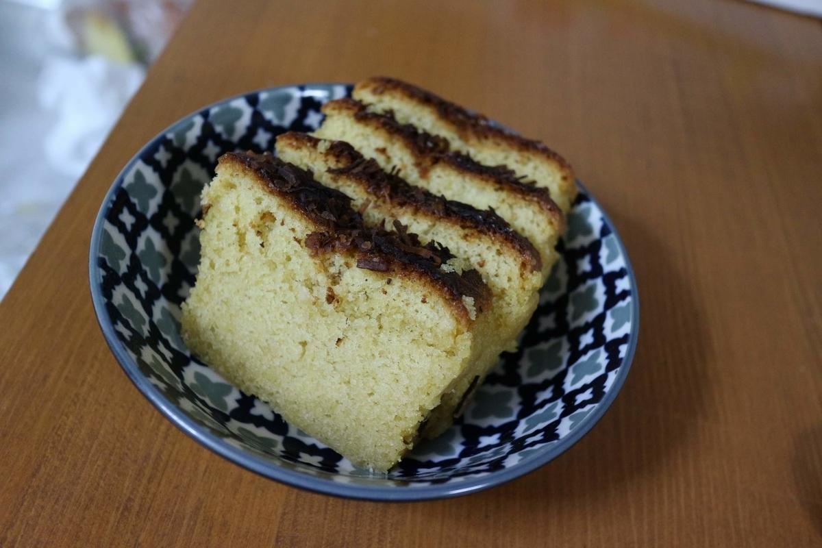 ジェノワーズ法 アーモンドプードル40gでつくったパウンドケーキ